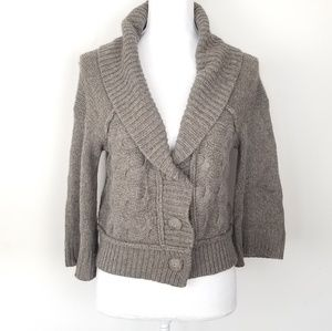 Juicy couture cardigan sweater Sz M 3/4 sleeve
